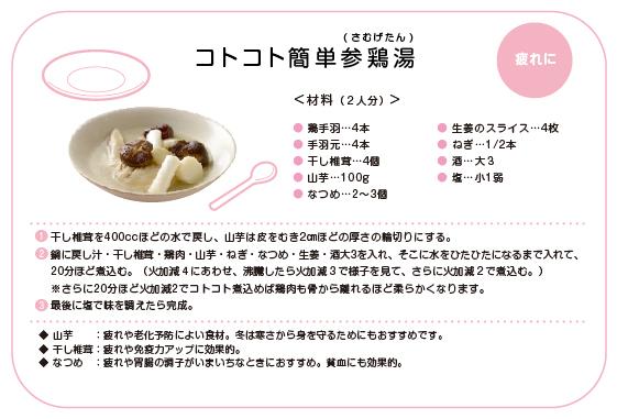 オリジナルレシピ提案