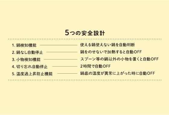 5つの安全設計